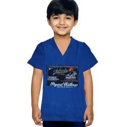 Dark Blue Printed Boys T-Shirt