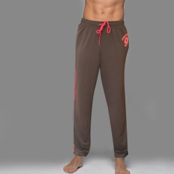 Dark Brown Red Knot Joggers
