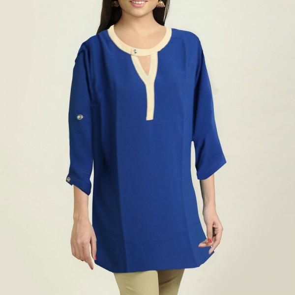 Blue Short Top 3/4 Sleeve