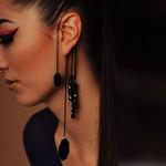 Black/Silver Alloy Ear-Cuff
