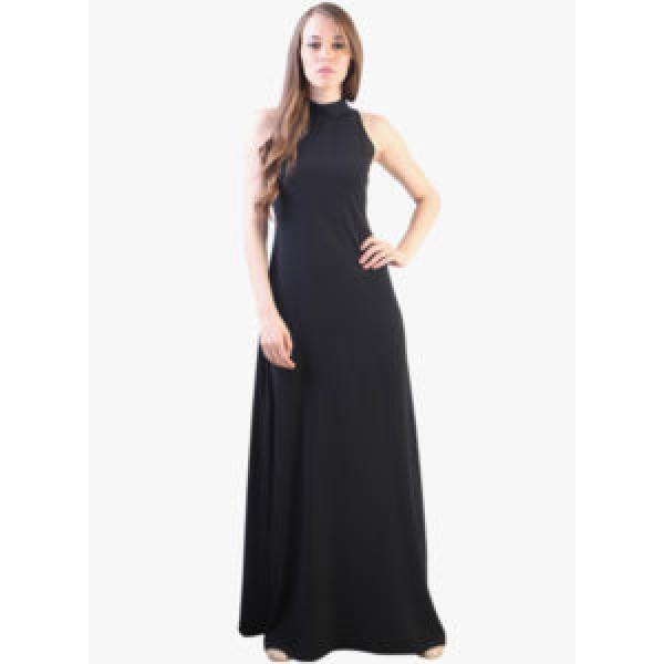 Black Coloured Solid Maxi Dress