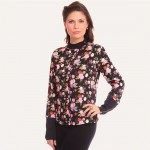 Black Printed Blouse