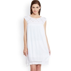 White Shift Lace Dress