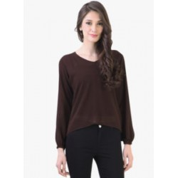 Brown Solid Blouse