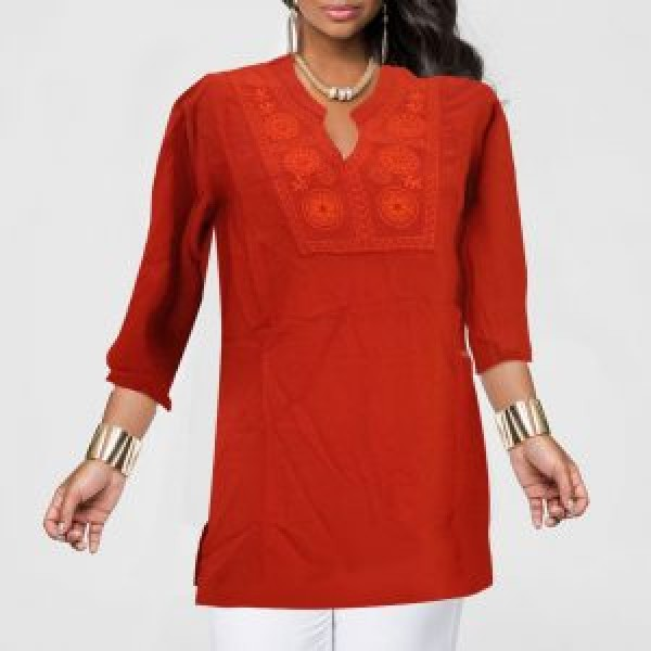 Red Top 3/4 Sleeve